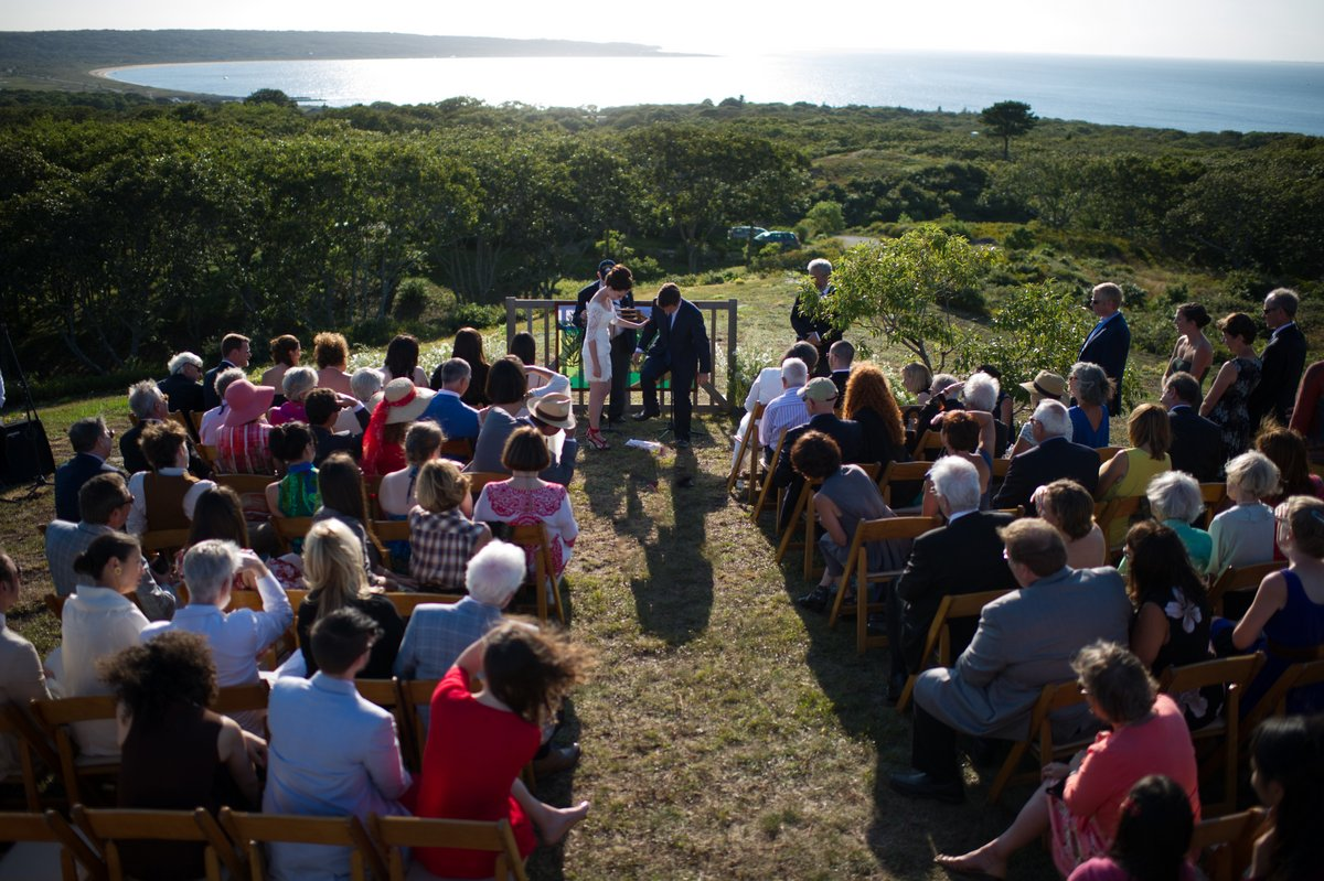 martha's vineyard jewish wedding photos
