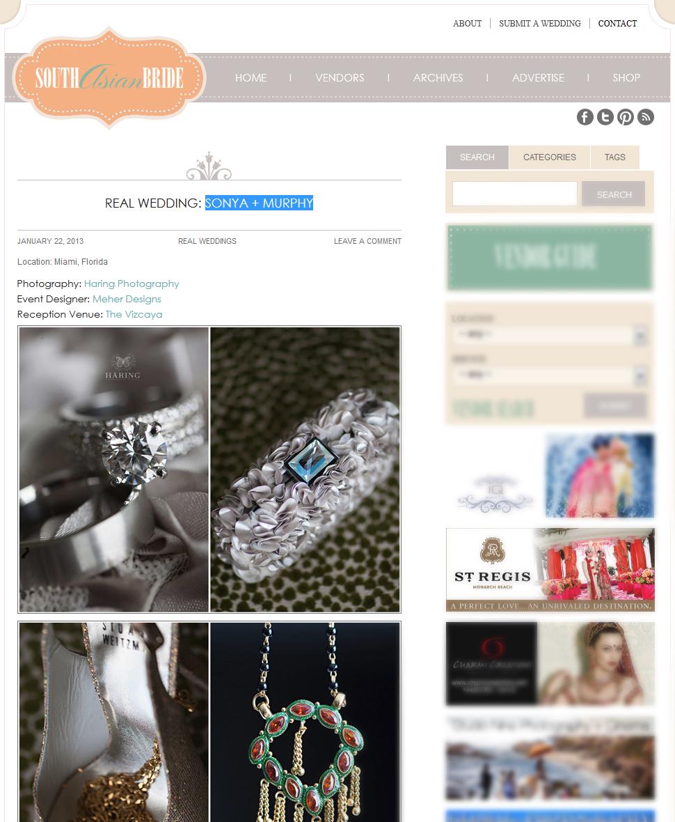 Real Wedding Sonya + Murphy  South Asian Bride Magazine 3