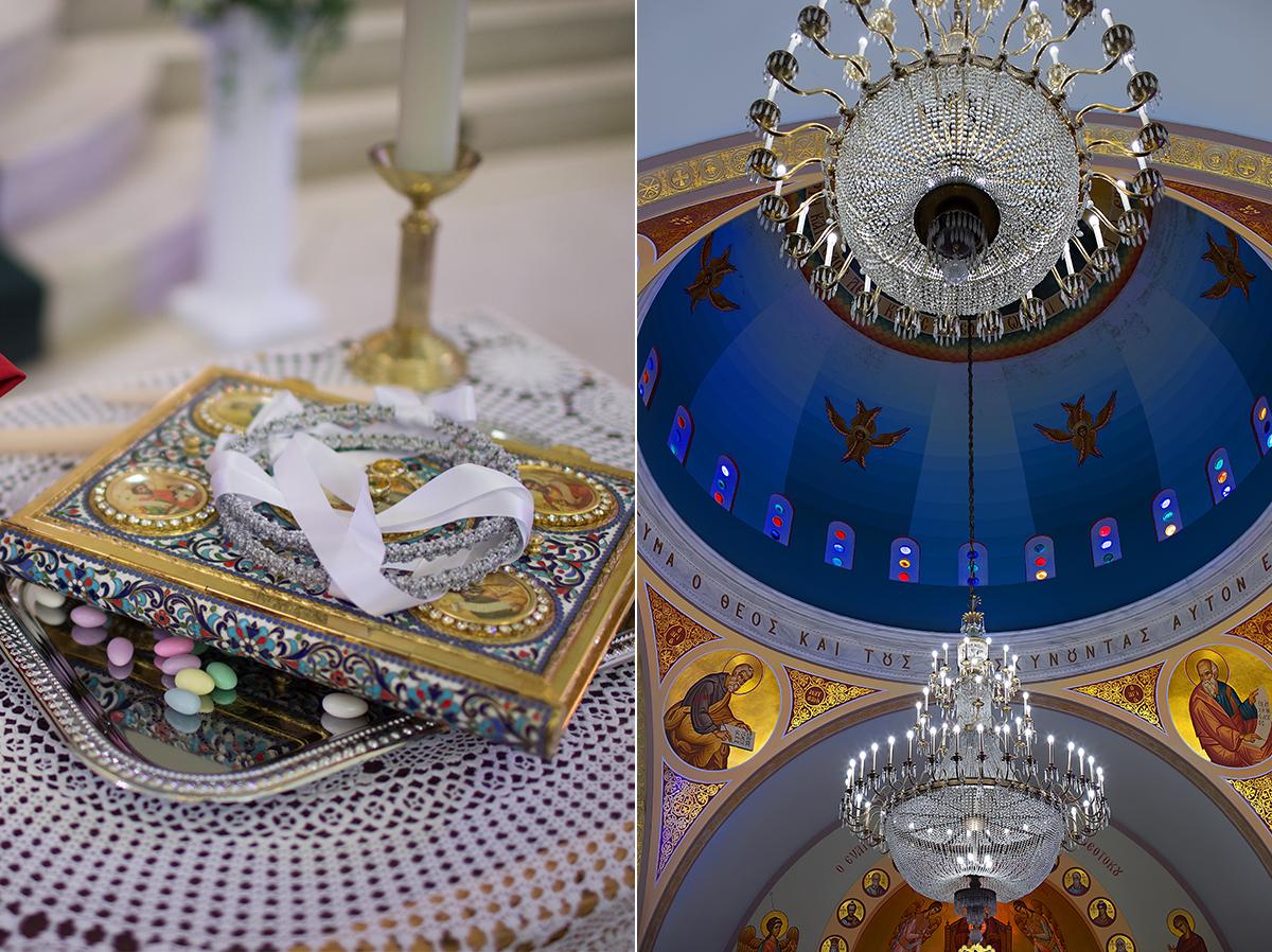 Greek Orthodox church wedding ceremony
