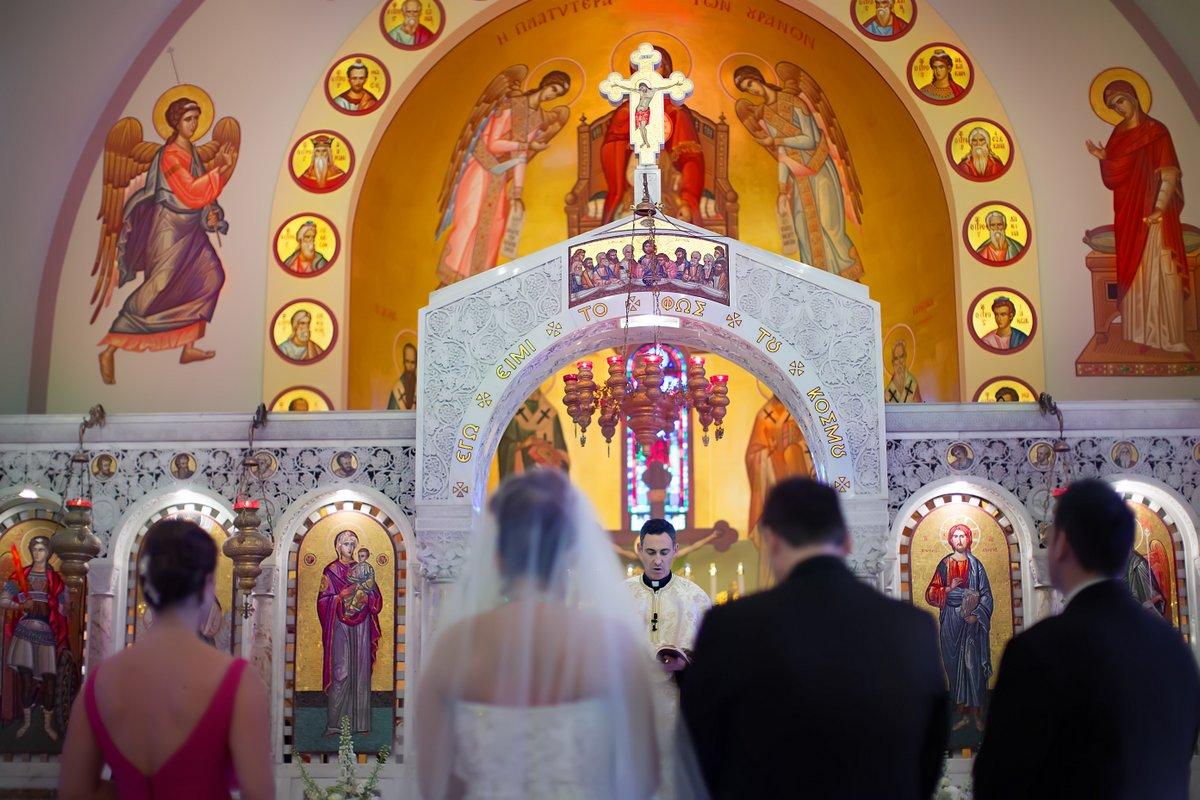 greek wedding in church