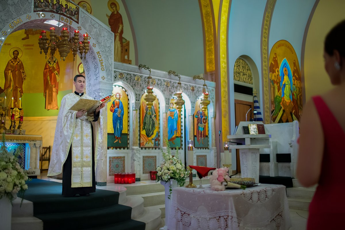 St Sophia Greek Orthodox church wedding ceremony