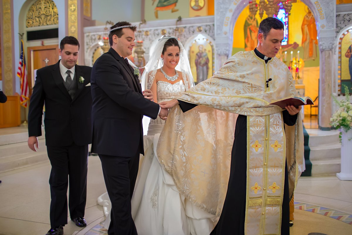Orthodox greek wedding ceremony