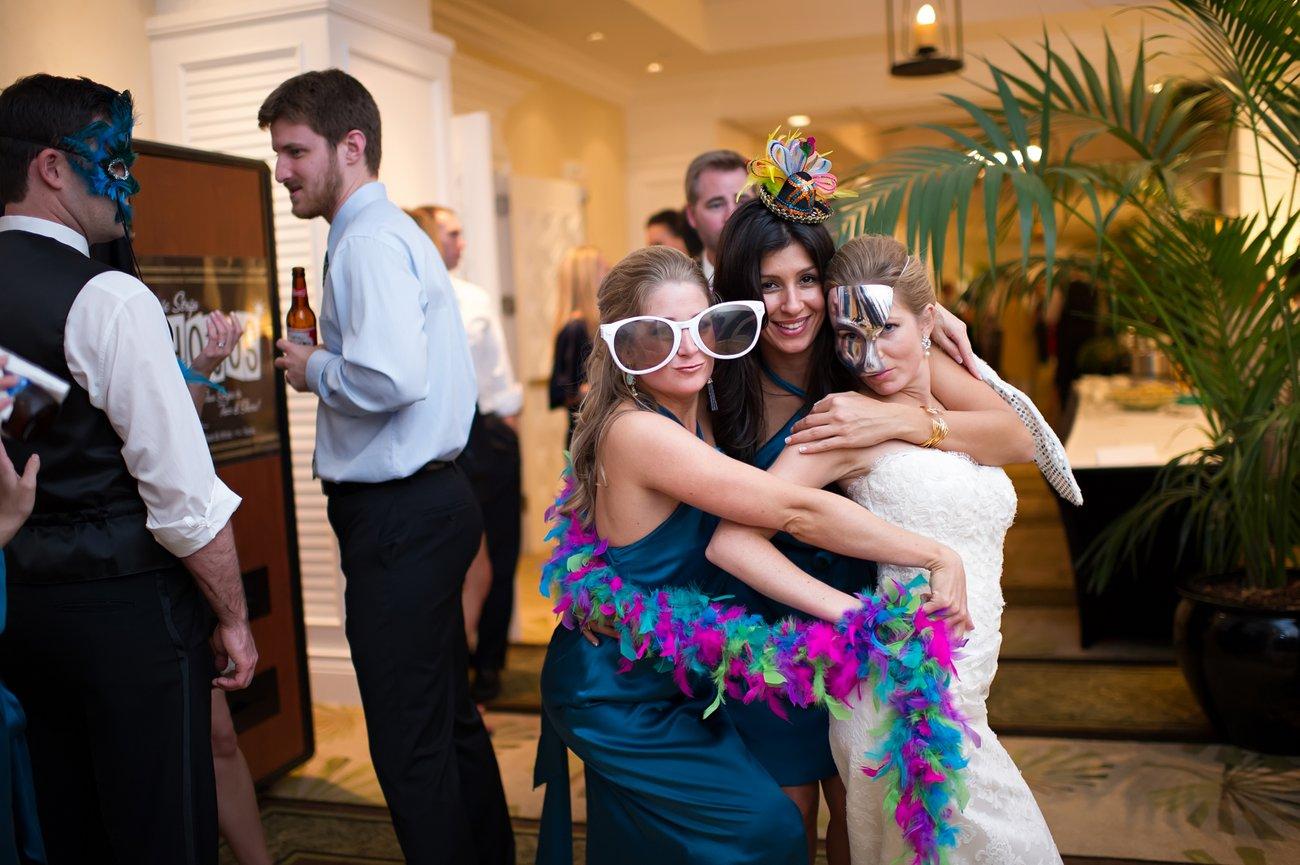 Marriott Beachside Resort wedding party pictures