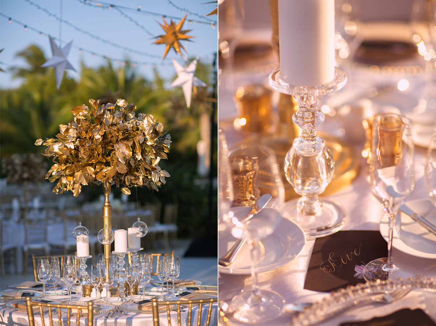 fisher island wedding decor