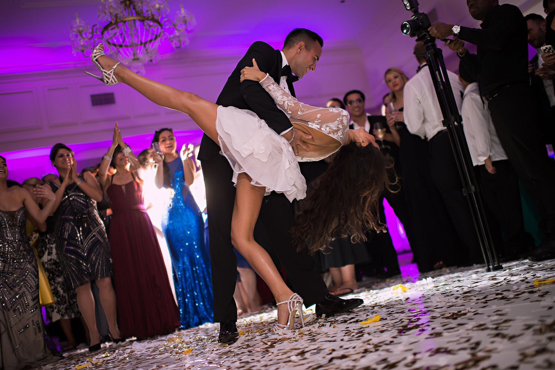 miami party wedding reception photos