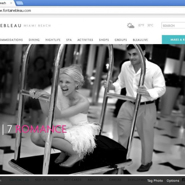 Featured Wedding Photographer at Fontainbleau, Miami - 4 years in a row!