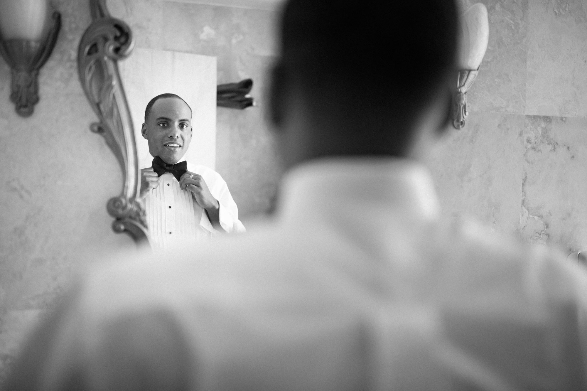 groom getting ready raleigh hotel miami