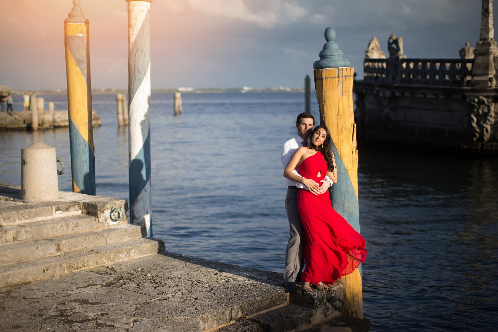 Miami engagement photos vizcaya museum and garden