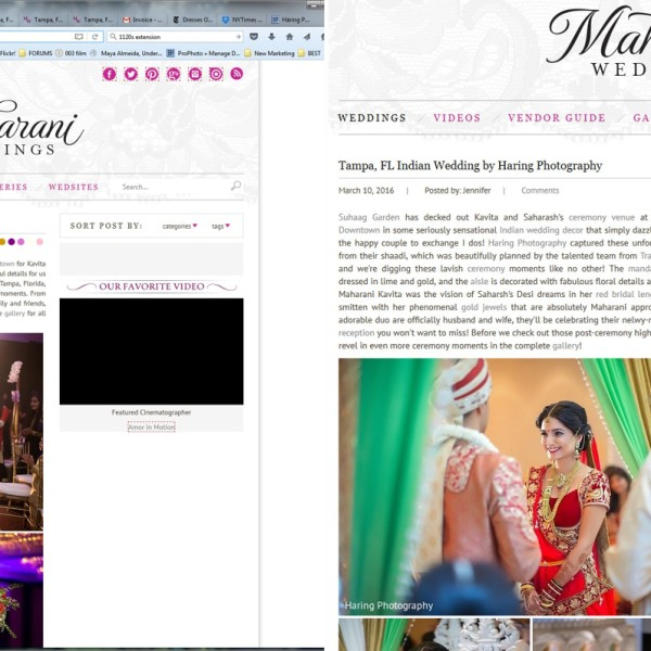 Latest Published Wedding in a Magazine