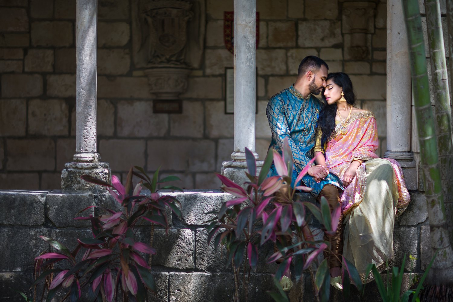miami indian engagment photos
