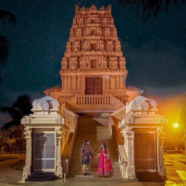 The Hindu Temple of Florida at Night | Tampa, FL
