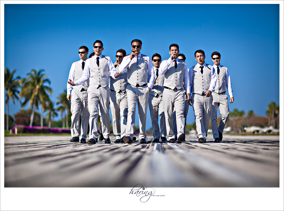 Ocean Reef Club, Key Largo – Groom and Groomsmen on the Taxiway at the Airport, Miami Wedding Photographers | Häring Photography, Indian Wedding Photographer in Florida, Best Muslim, Hindu - South East Asian Wedding Photographers