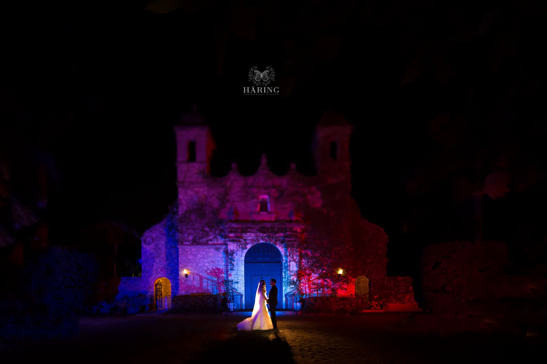 Plymouth Congregational Church at Night, Miami Wedding Photographers | Häring Photography, Indian Wedding Photographer in Florida, Best Muslim, Hindu - South East Asian Wedding Photographers
