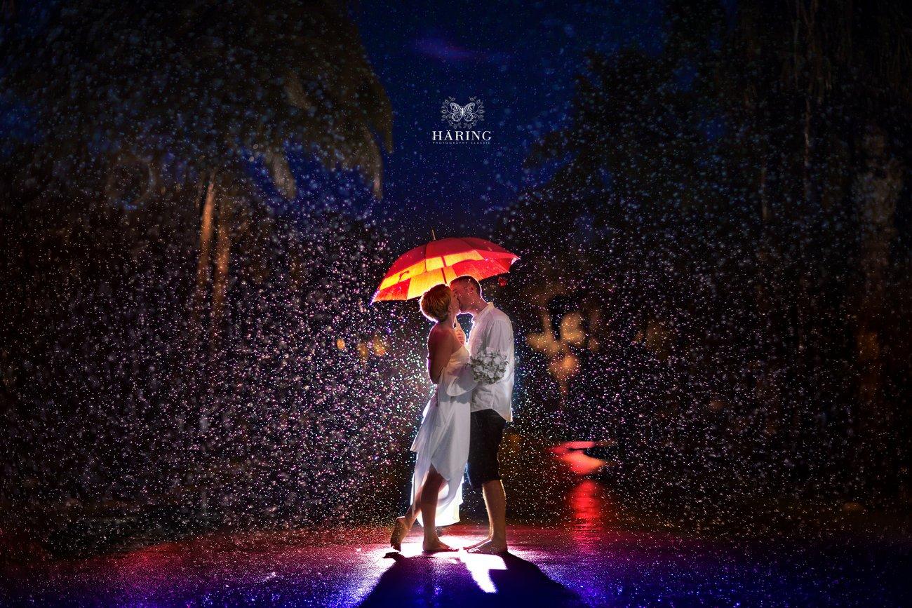 Kiss in the rain, Miami Wedding Photographers | Häring Photography, Indian Wedding Photographer in Florida, Best Muslim, Hindu - South East Asian Wedding Photographers