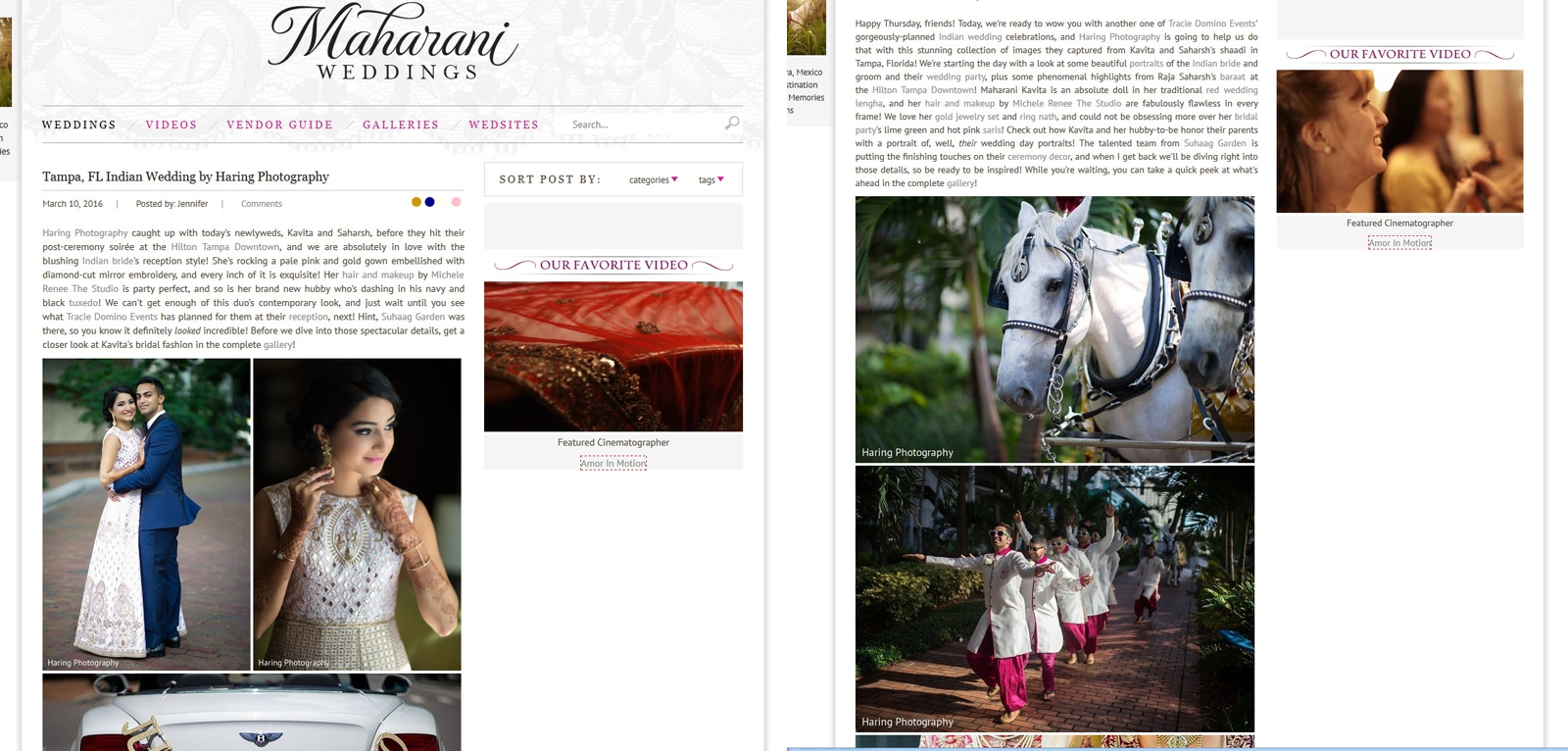 Latest Published Wedding in a Magazine, Miami Wedding Photographers | Häring Photography, Indian Wedding Photographer in Florida, Best Muslim, Hindu - South East Asian Wedding Photographers