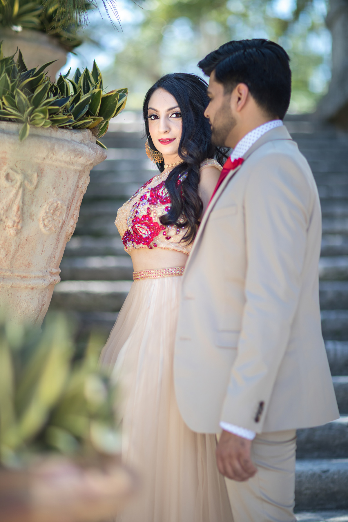 Richa + Shashank | Indian Engagement photos in Miami,  Vizcaya Museum and Gardens, Miami Wedding Photographers | Häring Photography, Indian Wedding Photographer in Florida, Best Muslim, Hindu - South East Asian Wedding Photographers