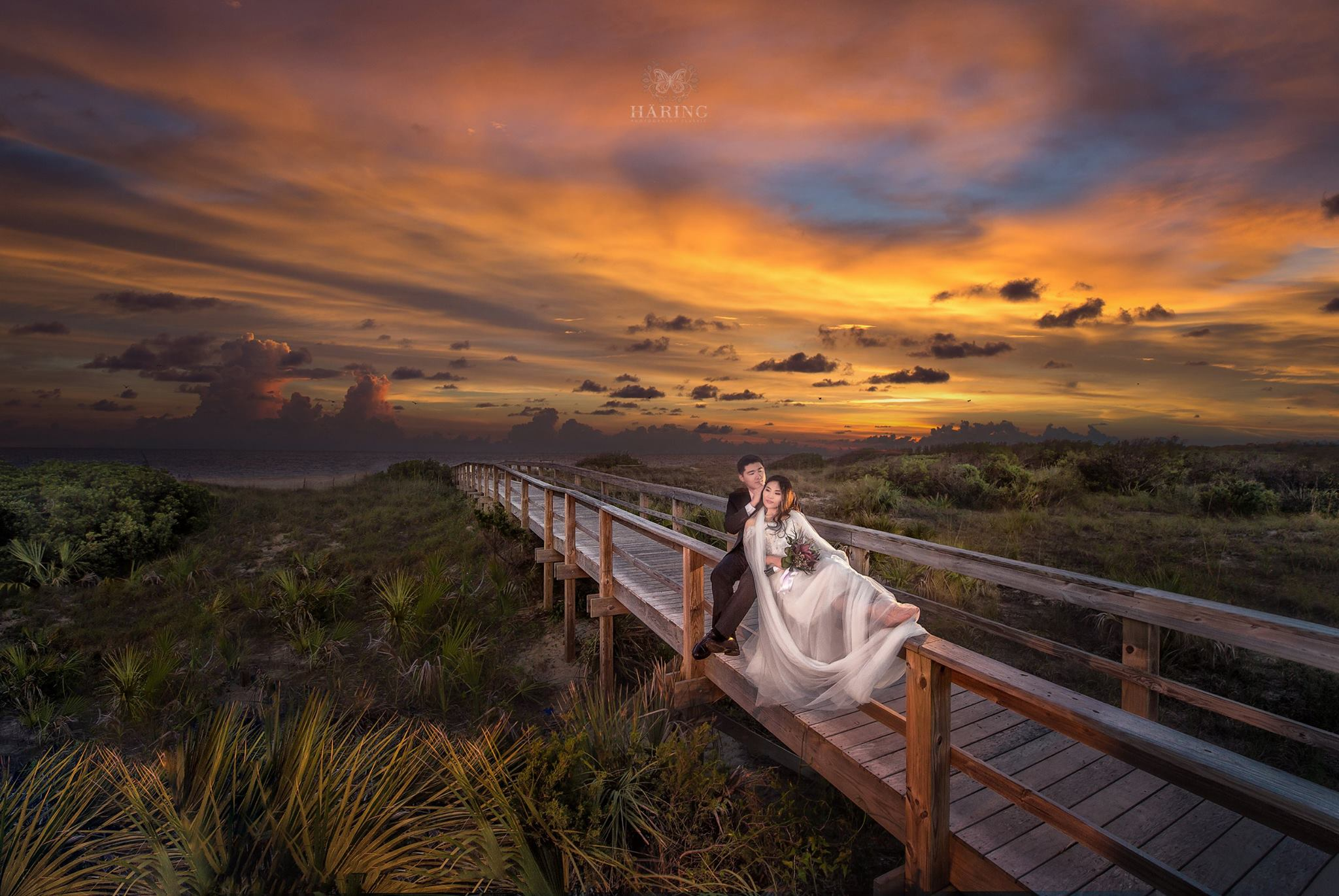 Sunset on the Beach, Miami Wedding Photographers | Häring Photography, Indian Wedding Photographer in Florida, Best Muslim, Hindu - South East Asian Wedding Photographers