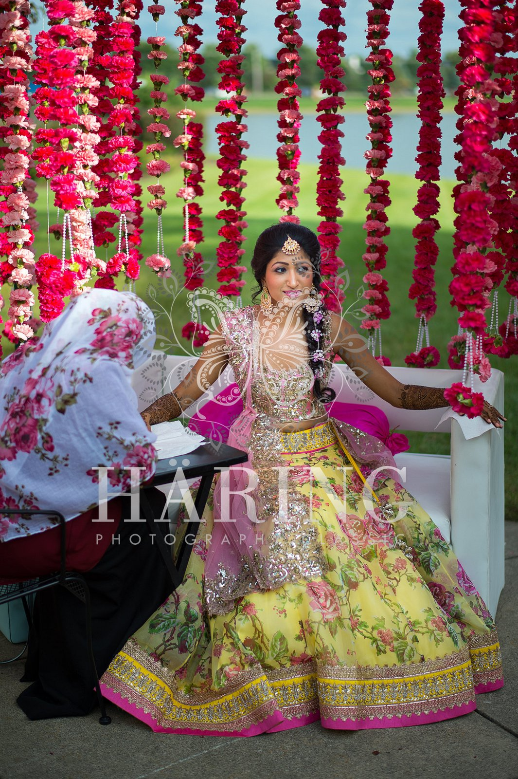 Simple Mehndi Wedding Decoration | Neha, Miami Wedding Photographers | Häring Photography, Indian Wedding Photographer in Florida, Best Muslim, Hindu - South East Asian Wedding Photographers