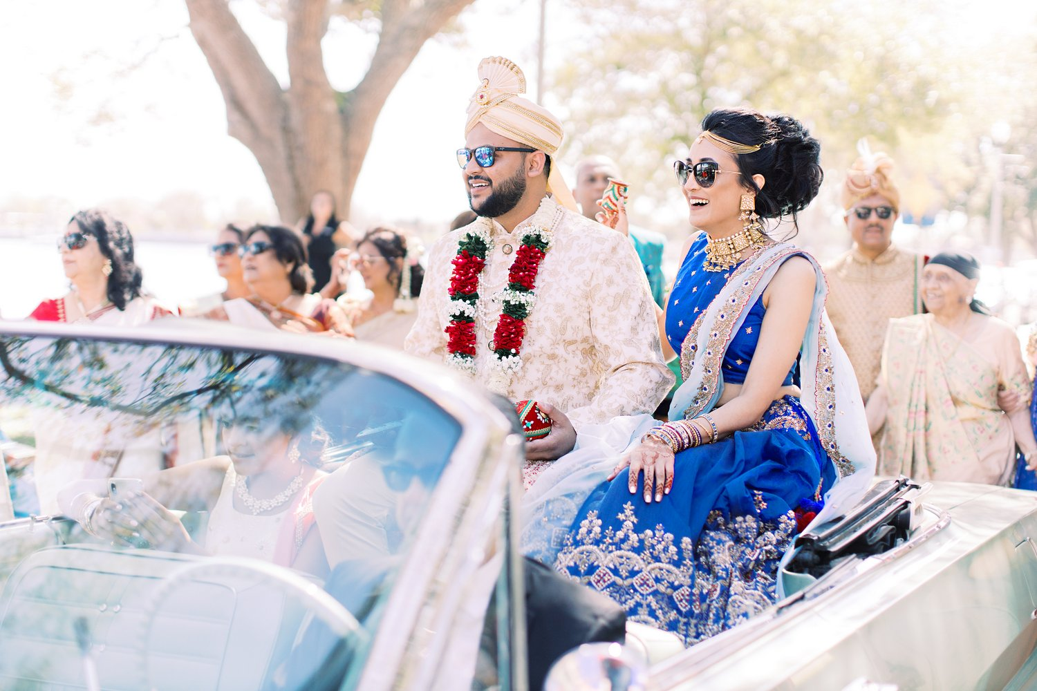 If vintage cars have always been your thing, then lead your baraat procession in one stunning vintage vehicle!, Miami Wedding Photographers | Häring Photography, Indian Wedding Photographer in Florida, Best Muslim, Hindu - South East Asian Wedding Photographers