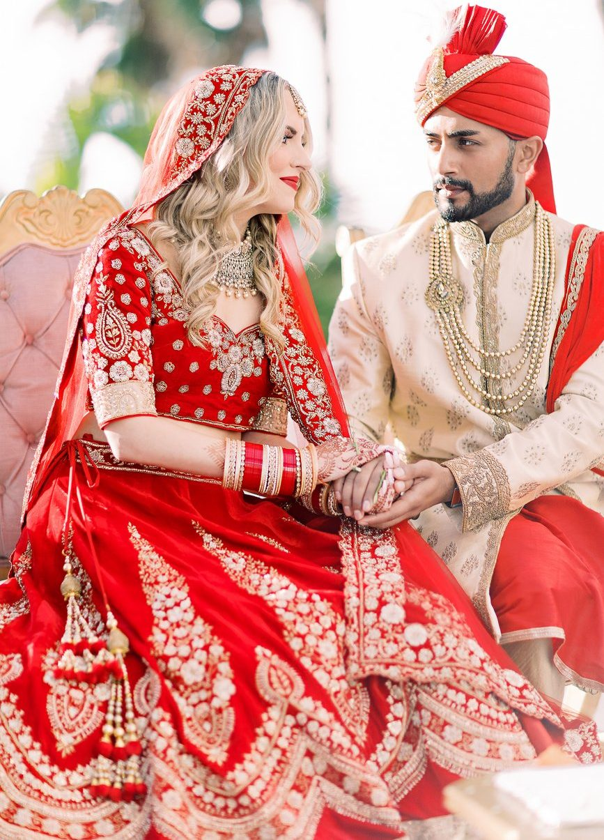 hindu indian wedding outfit color themes